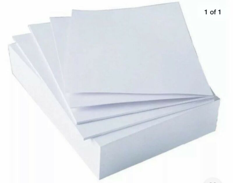 Paper, Copy & Multipurpose Paper 8.5 X 11 Letter Size, 20lb 92 Bright 500 Shts