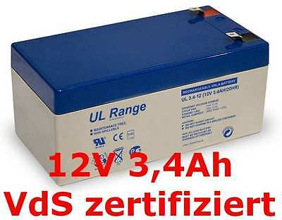 Sun Battery SB12-3.5  Akku Ersatzakku Fiamm  FG20451 AGM Gel Batterie 12V 3,4Ah ()