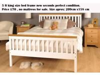 5 ft king size bed frame new