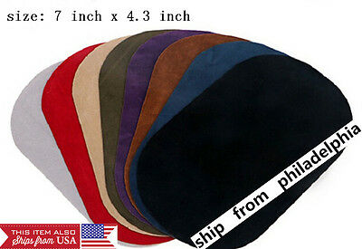 patfaux Suede Leather Iron-on Oval Elbow Knee Patches DIY Repair Sewing