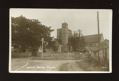 Gloucester Glos LEONARD STANLEY Church c1940/50s? RP PPC by Lilywhite