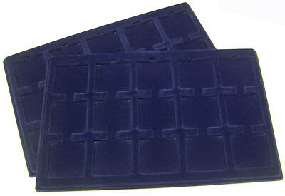 2 Display Storage Trays for 2x2 Coin Cardboard Flips Quadrums Fit Lighthouse - Cardboard Trays