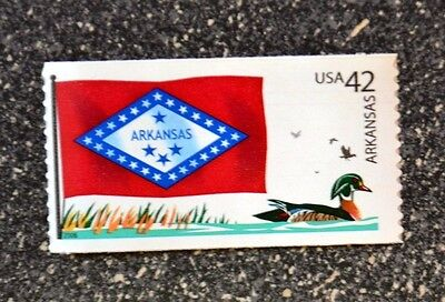2008USA 4278 42C ARKANSAS STATE FLAG - FLAGS OF OUR NATION  MINT NH  DUCK