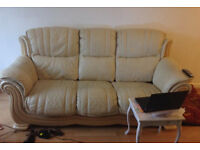 50.00 ono exellent condition leather 3 seeter 2 chairs