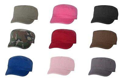 UNISEX CADET CAP - MG ALTERNATIVE VALU - MILITARY, FIDEL, ARMY HAT, 100% COTTON](Mg Hats)