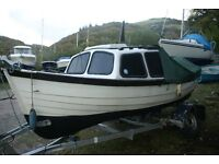 16ft cabin cruiser/fishing boat, with engines
