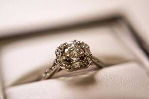 Engagement Ring, Round Brilliant & Baguette Framed Bridal Ring Rochedale Brisbane South East Preview
