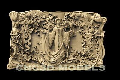 3d Stl Model For Cnc Router Engraver Carving Artcam Aspire Women Girl Decor D123
