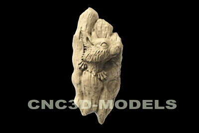 3d Stl Model For Cnc Router Carving Artcam Aspire Animal Squirrel Tree D160