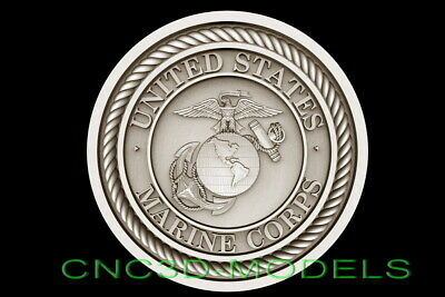 3d Stl Model For Cnc Router Artcam Aspire Usa America Marine Corps Eagle D664