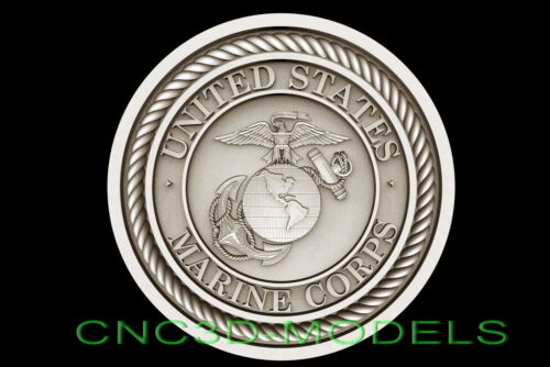 3D STL Model for CNC Router Artcam Aspire USA America Eagle Wood Carving d664