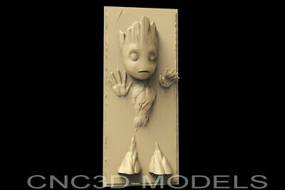 3d Stl Model For Cnc Router Carving Engraver Artcam Aspire Usa Baby Groot D181
