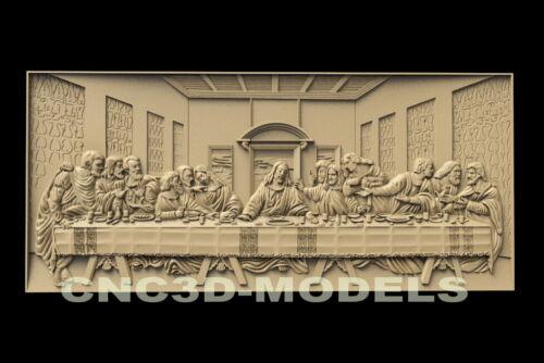 3D STL Model for CNC Router Artcam Christ Religion Da Vinci's Last Supper D44