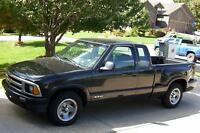 1996 Chevrolet S-10 Pickup .PROJECT TRUCK.stock photo.