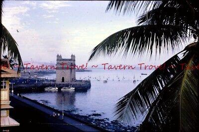 Bombay Harbor (12/9/1966 INDIA Bombay Harbor 35mm Kodak Slide s511)