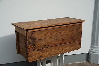 Große alte Holzkiste Holz Truhe Kiste Holztruhe Tisch Werkzeugkiste Vintage