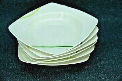 23 cm Porzellan Teller Eckig 6,12 oder 48 Teller tief Suppenteller ca