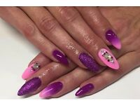 Sculpted acrylic nails, Soak-off gel polish, Nail art - mobile in Manchester area