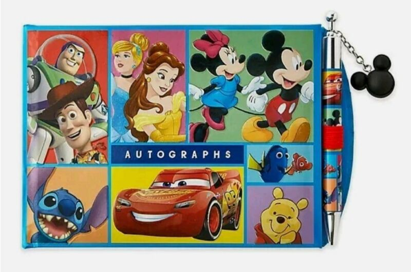 BRAND NEW Disney Store World of Disney Autograph Book and Pen Set