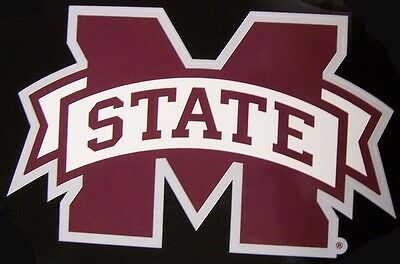 Window Bumper Sticker NCAA Mississippi State Bulldogs NEW