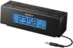Sony ICF-C707 Clock Radio with AM/FM Dual Alarm and Large Easy to Read Backlit