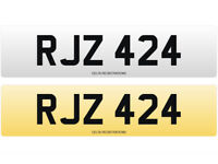 RJZ 424 – Price Includes DVLA Fees – Cherished Personal Private Registration Number Plate