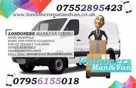 £18/H LONDONERS MAN AND VAN, COURIER, REMOVAL, CLEARANCE, INTERNATIONAL MOVES, MOTORBIKE RECOVERY