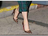 Christian Louboutin soKate patent leopard print pumps 39.5