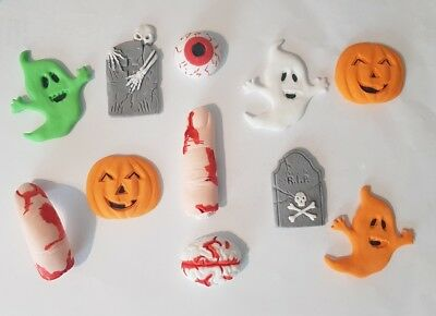 Halloween spooky Handmade  cake decorations ( eyes, fingers, ghosts,