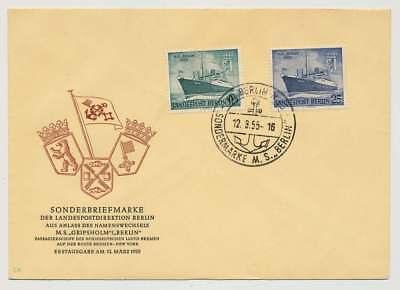 Berlin Nr. 126-127 auf Ersttagsbrief / FDC, Schmuckbrief (35129)