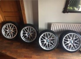 BMW 18 Inch CSL Alloys 1 2 3 4 Series Fitment 3 New Tyres 8J ET38