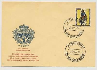 Berlin Nr. 131 auf Ersttagsbrief / FDC, Schmuckbrief (35132)