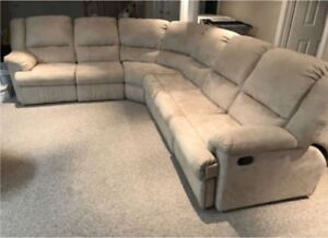 Microfibre Sectional Sofa Perfect for Basements