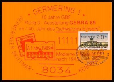 BERLIN ATM MK SCHLOSS CHARLOTTENBURG MAXIMUMKARTE GERMERING MAXI CARD MC /m1178