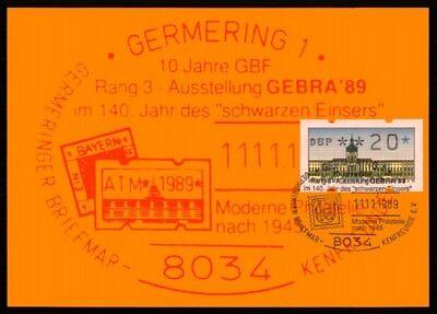 BERLIN ATM MK SCHLOSS CHARLOTTENBURG MAXIMUMKARTE GERMERING MAXI CARD MC m1178