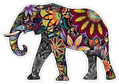Cheerful Elephant Cartoon Art Decor Vinyl Decal Sticker