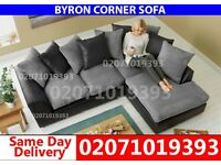 Grey/Black Corner Sofa--Order Now!