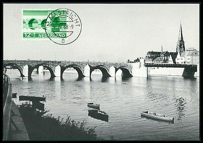 NETHERLANDS MK 1968 BRIDGES BRIDGE BRCKEN BRCKE CARTE MAXIMUM CARD MC CM BE95