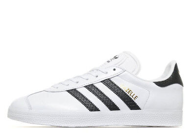 Women's Adidas Originals Gazelle White Leather & Black Stripes (UK 5) Brand New for sale  Shipping to Ireland