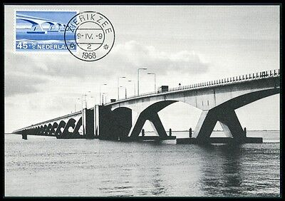 NETHERLANDS MK 1968 BRIDGES BRIDGE BRCKEN BRCKE CARTE MAXIMUM CARD MC CM BE94