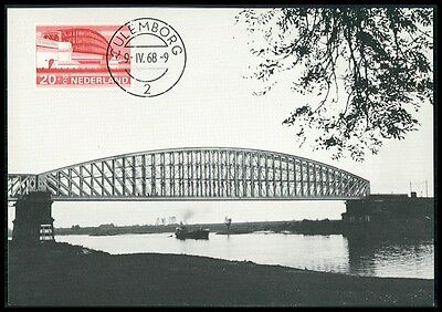 NETHERLANDS MK 1968 BRIDGES BRIDGE BRCKEN BRCKE CARTE MAXIMUM CARD MC CM BE97
