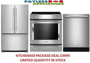 KitchenAid KRFC300ESS Counter Depth French Door Fridge KitchenAid YKSEB900ESS Electric Range,KitchenAid KDTE234G 30 inch