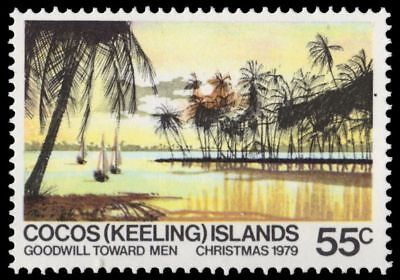 COCOS ISLANDS 52 (SG49) - Sailboats in Lagoon (pa76991)