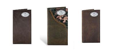 ZEP-PRO NCAA Georgia BULLDOGS Leather Long Roper Wallet Checkbook w/gift box