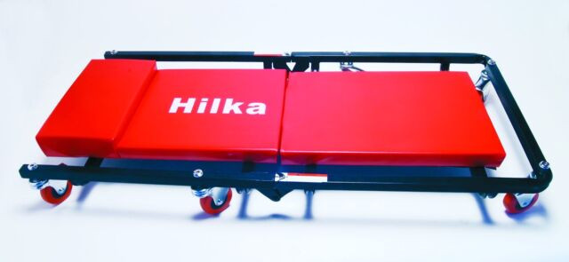 CAR CREEPER HILKA FOLD AWAY ENGINE TROLLEY MECHANICS VEHICLE INSPECTION ROLLER