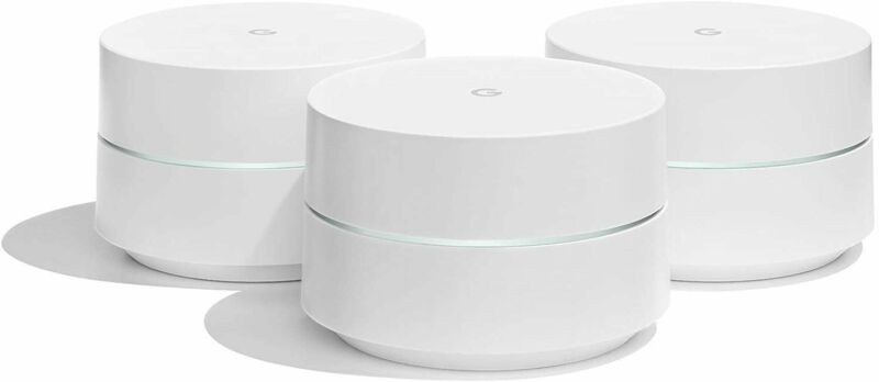 Google WiFi System Router System Whole Home Coverage AC1200 3-Pack or 1-Pack