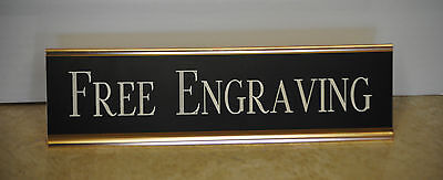 Desk Name Plate Metal Rose Gold Holder Colored Plastic Plate Free Shipping