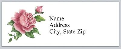 Personalized Address Labels Vintage Shabby Roses Buy 3 Get 1 Free Bx 900