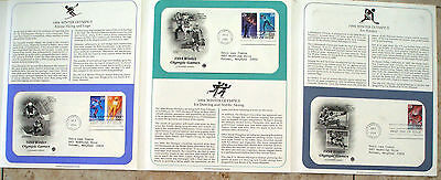 First Day Cover 3 FDC's Stamps # 2807-2811 29 cent Winter Olympics Games 1994