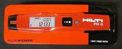Hilti Pd 5 Pulse 11 Power Laser Range Meter Pd5 Hna Distance Meter Range Finder